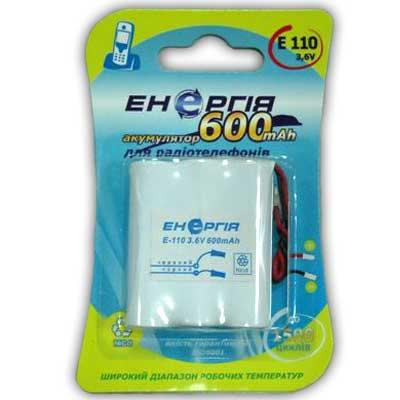 Фото нетАккумулятор для стационарного телефона Энергия Е-110 (600mAh)