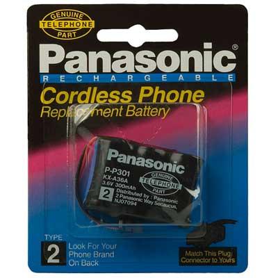 Фото нетАккумулятор для стационарного телефона Panasonic P-P301 (300mAh)