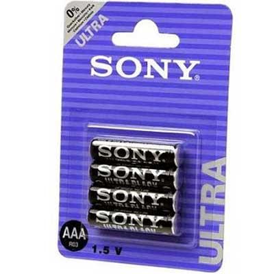 Фото нетБатарейка R03 Sony ultra black блистер