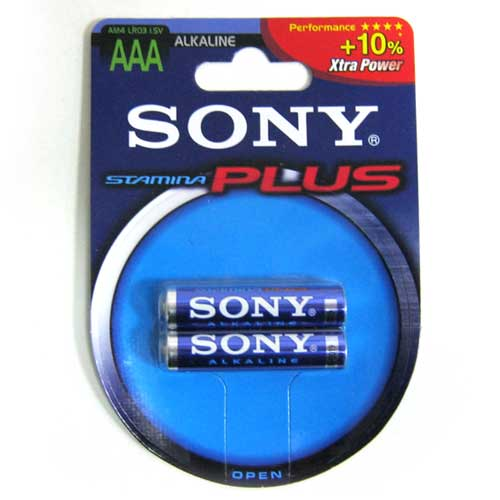 Фото нетБатарейка LR03 Sony Stamina Plus блистер по 2шт