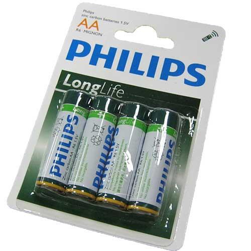 Фото нетБатарейка R6 Philips long life блистер по 4 шт.