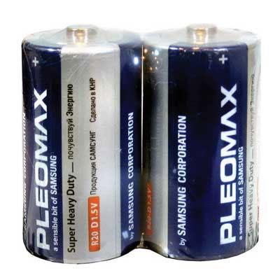 Батарейка R20 Samsung Pleomax tray