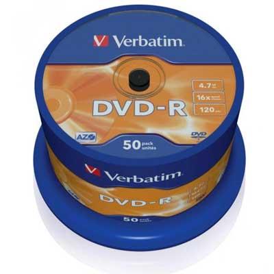 Диск Verbatim 4.7Gb -16x (cake 50) azo DVD-R