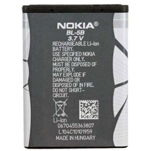 Фото нетАккумулятор для мобильного телефона Nokia BL-5B