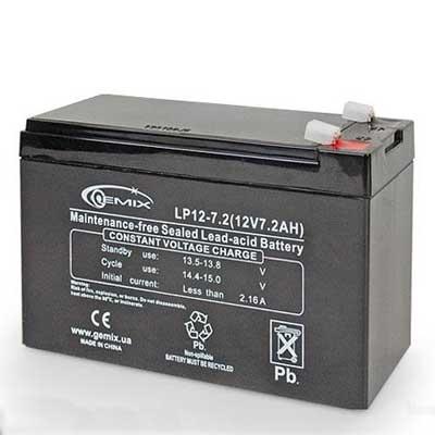Фото нетАккумулятор свинцово-кислотный Gemix LP 12-7,5 (12V.7,5A)
