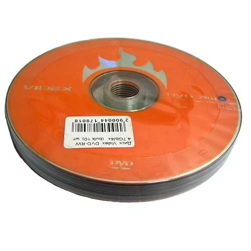 Фото нетДиски Videx DVD+RW 4,7Gb/4x (bulk 10)