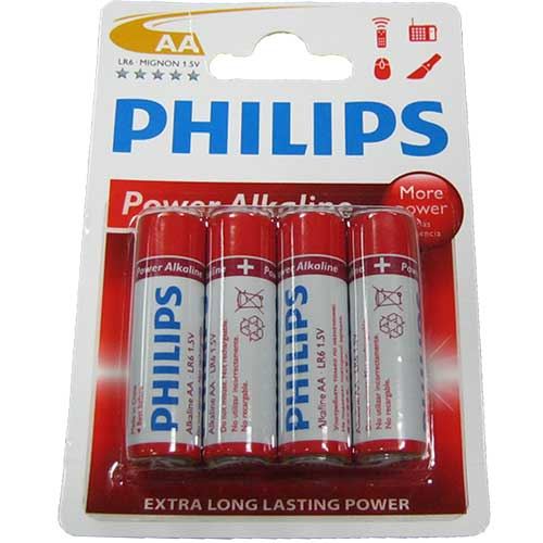Фото нетБатарейка LR6 Philips power life блистер по 4шт