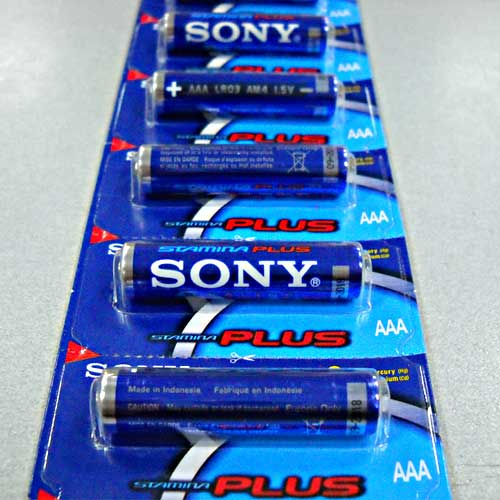 Батарейка LR03 Sony Stamina Plus 1х12 отрывная блистер(Акция!!!)