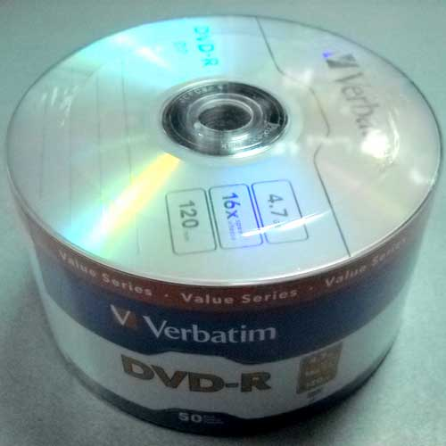 Диск Verbatim 4.7Gb -16x (Wrap 50) DVD-R DataLife 43791(Акция!!!)