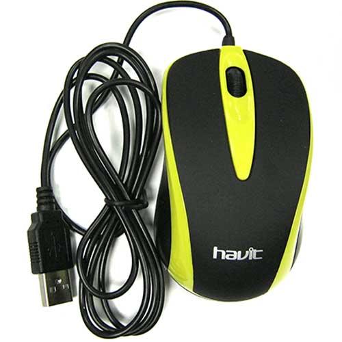 Компьютерная мышка Havit HV-MS675 USB yellow