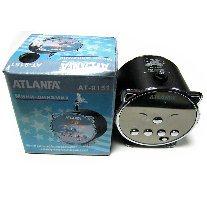 Портативная колонка Atlanfa AT-9151 мини(Распродажа!!!)(аккумулятор.USB;microSD)