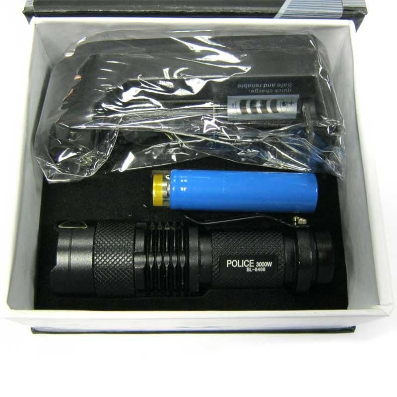 Фонарь аккумуляторный Bailong BL-8468 XPE (99000W +ЗУcеть;Li-ion14500)