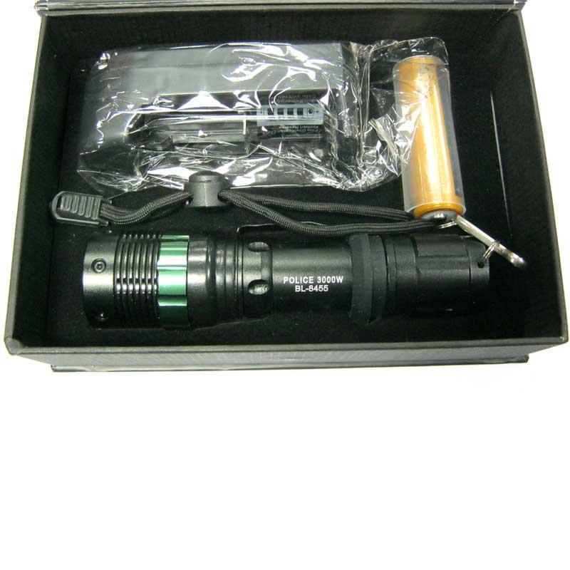 Фонарь аккумуляторный Bailong BL-8455XPE (30000W +ЗУcеть;zoom;Li-ion18650)