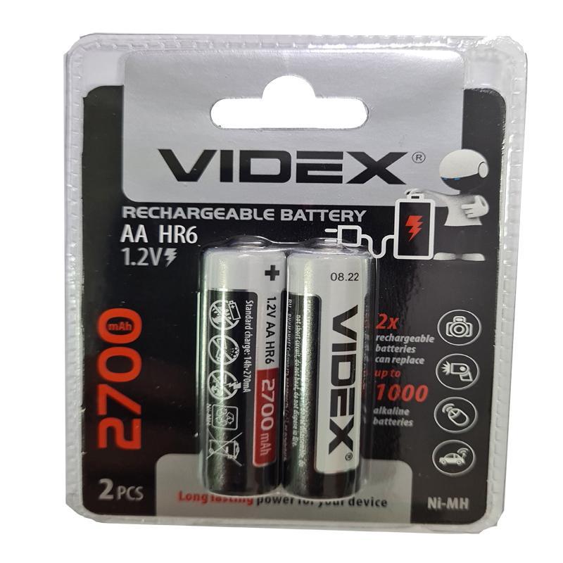 Фото нетАккумулятор R6 Videx 2700mAh NiMH