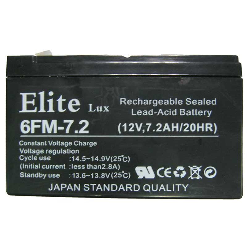 Фото нетАккумулятор свинцово-кислотный Elite lux 12-7,2 (12V,7,2Ah)(Cупер цена!!!)