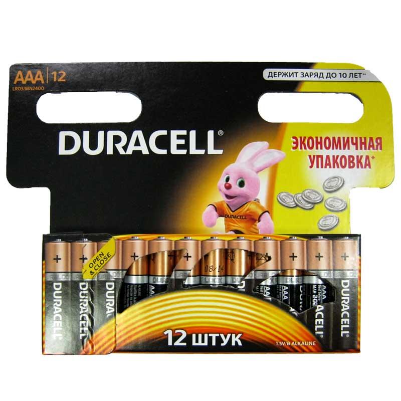 Батарейка LR03 Duracell блистер по12шт(Акция!!!)