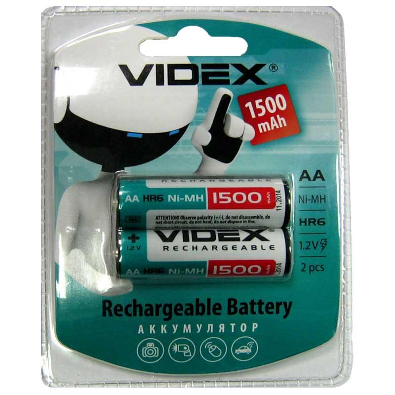 Фото нетАккумулятор R6 Videx 1500mAh NiMH