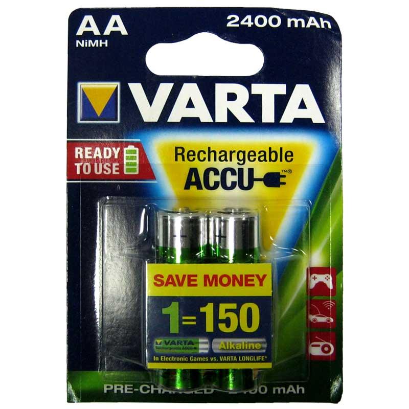 Фото нетАккумулятор R6 Varta 2400mAh NiMH (56756)(по 2шт)(предзаряженный) AA