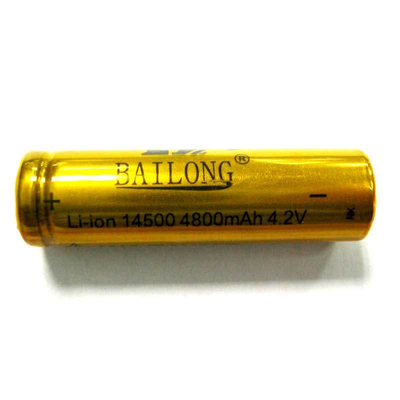 Фото нетАккумулятор литиевый 14500 Bailong gold 4800mAh 4,2V Li-ion