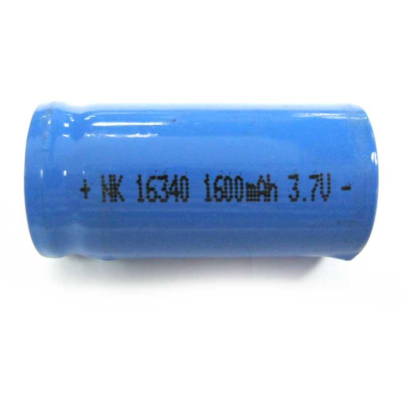Фото нетАккумулятор литиевый 16340 (CR123) Bailong blue 1600mAh 3.7V Li-ion