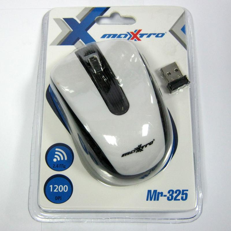 Беспроводная мышка Maxxtro Mr-325W белая USB (Акция!!!)
