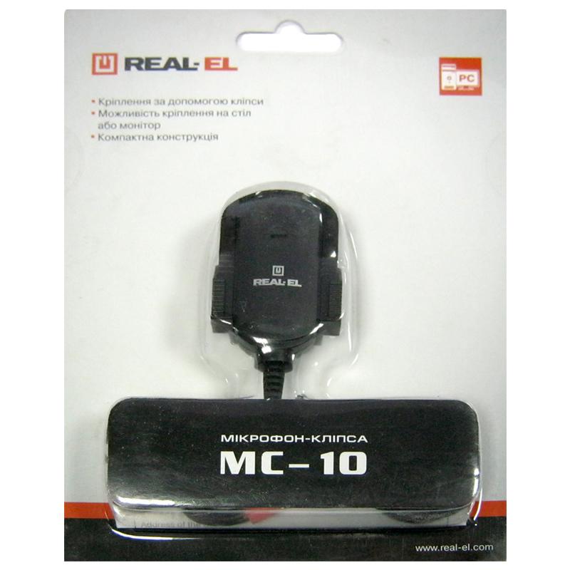 Микрофон REAL-EL MC-10 black