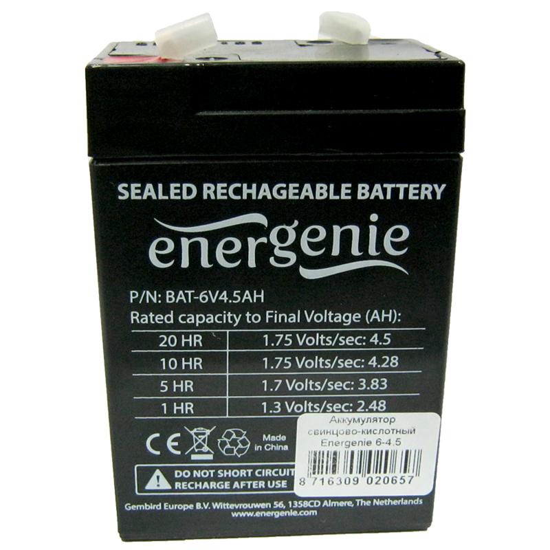 Фото нетАккумулятор свинцово-кислотный Energenie 12V-7,5Ah