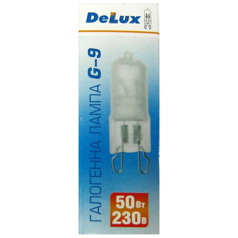 Фото нетЛампочка DELUX галогеновая G-9 50W 220V матовая