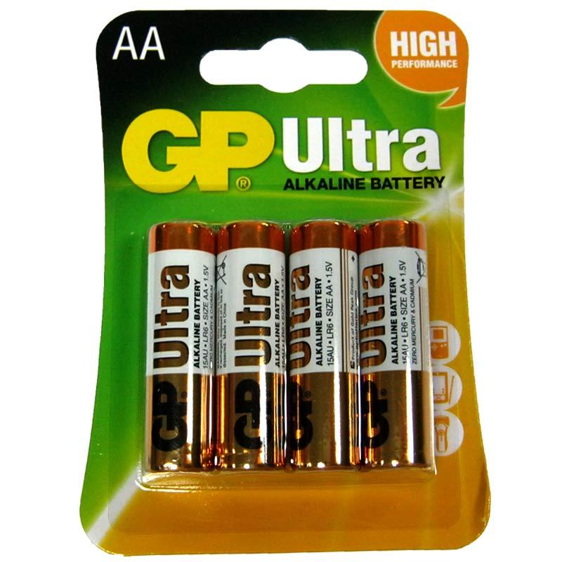 Фото нетБатарейка LR6 GP Ultra blister (15AU-U4) по 4шт