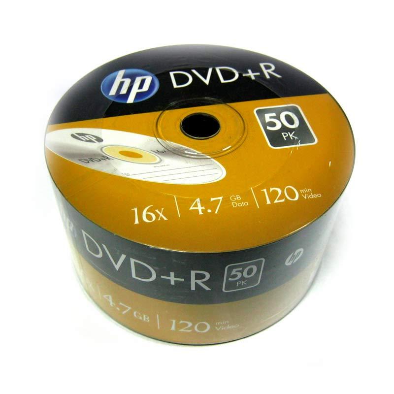 Фото нетДиск HP 4.7Gb -16x (bulk 50) DVD+R