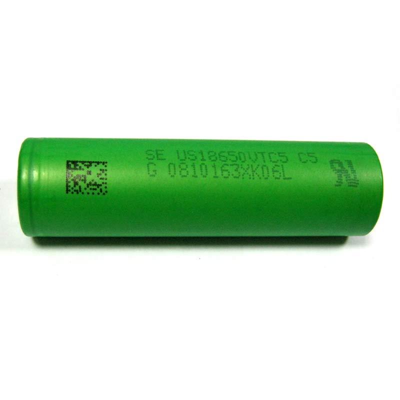 Фото нетАккумулятор литиевый 18650 SONY US18650VTC5 2600mAh (ток до 40А)Япония 3.7V Li-ion