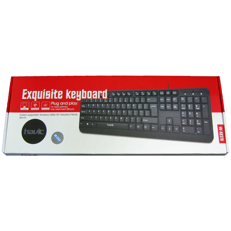 Клавиатура Havit HV-KB378 ,black, USB (Акция!!!)