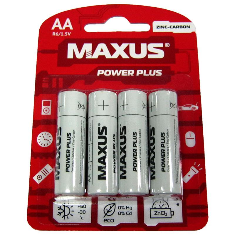 Фото нетБатарейка R6 Maxus PowerPlus blister по 4шт