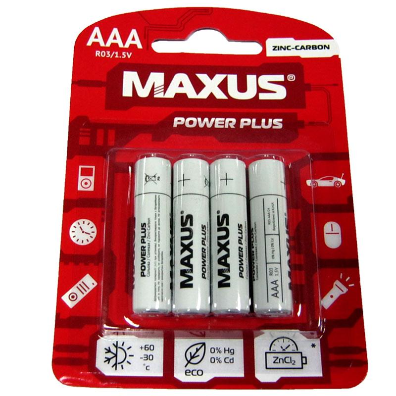 Фото нетБатарейка R03 Maxus PowerPlus blister по 4шт