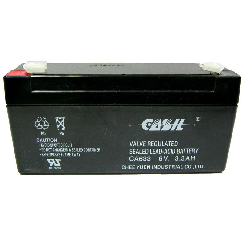 Фото нетАккумулятор свинцово-кислотный Casil CA633 6-3,3 (6V,3,3Ah)(123х32х60)(для весов)