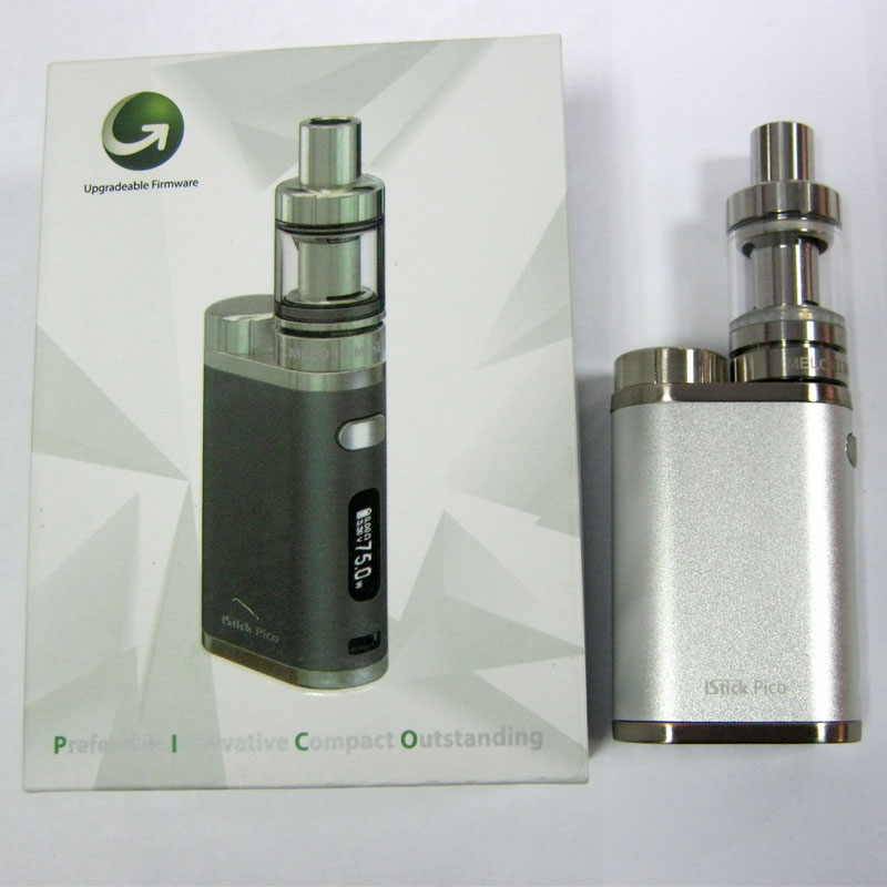 Электронная сигарета iStickPico TC набор стальной(боксмод+атомайзер+кабель microUSB/USB)
