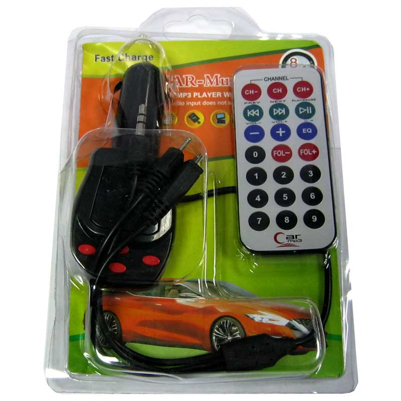 FM модулятор для автомобиля FM 8в1+кабель microUSB,Jack3.5,разьем 2мм с ЖКИ дисплеем