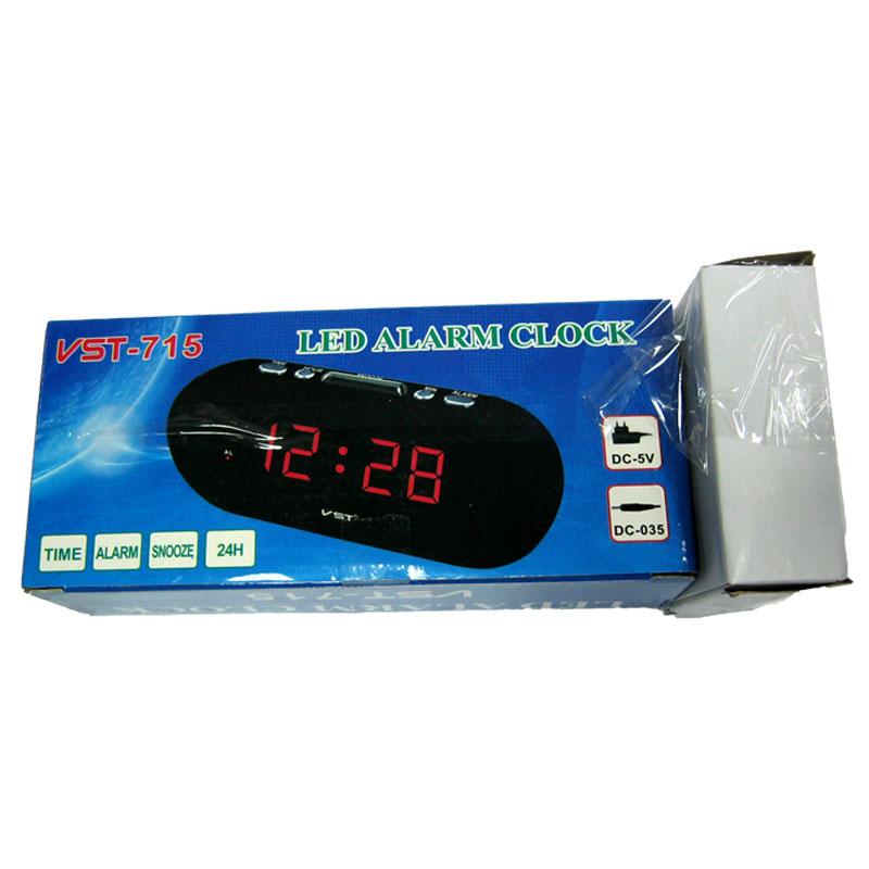 Часы VST-715-1 (от сети,с красной подсветкой)