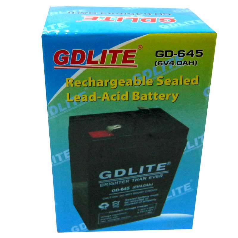 Фото нетАккумулятор свинцово-кислотный GDLITE GD-645(6V,4.0Ah)
