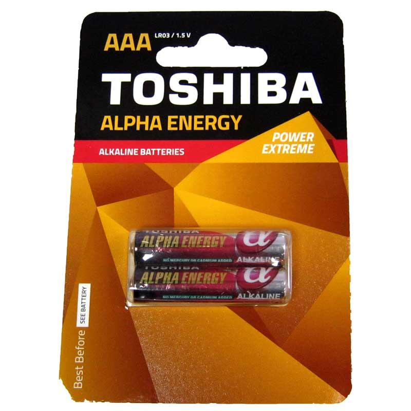 Фото нетБатарейка LR03 Toshiba ALPHA блистер по 2шт