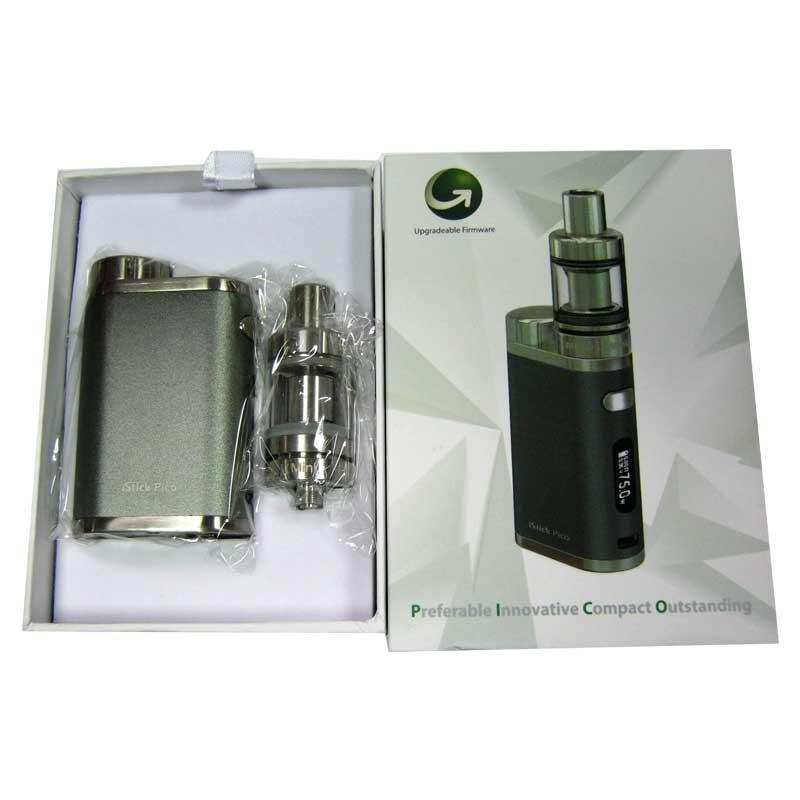Электронная сигарета iStickPico TC набор серый(боксмод+атомайзер+кабель microUSB/USB)