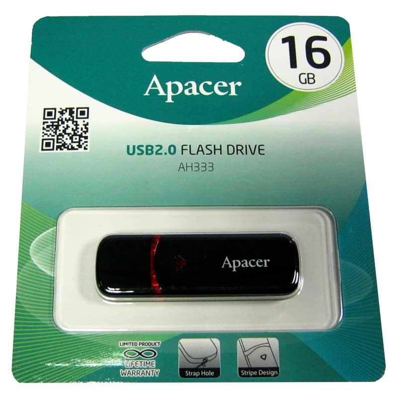 Флешка 16Gb Apacer AH333 Black(Акция!!!)