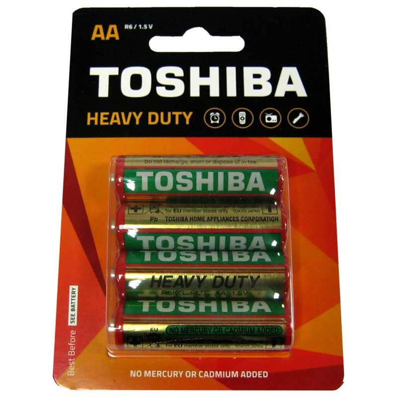 Фото нетБатарейка R6 Toshiba Heavy Duty блистер по 4шт