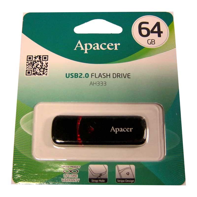 Флешка 64Gb Apacer AH333 Black (Акция!!!)