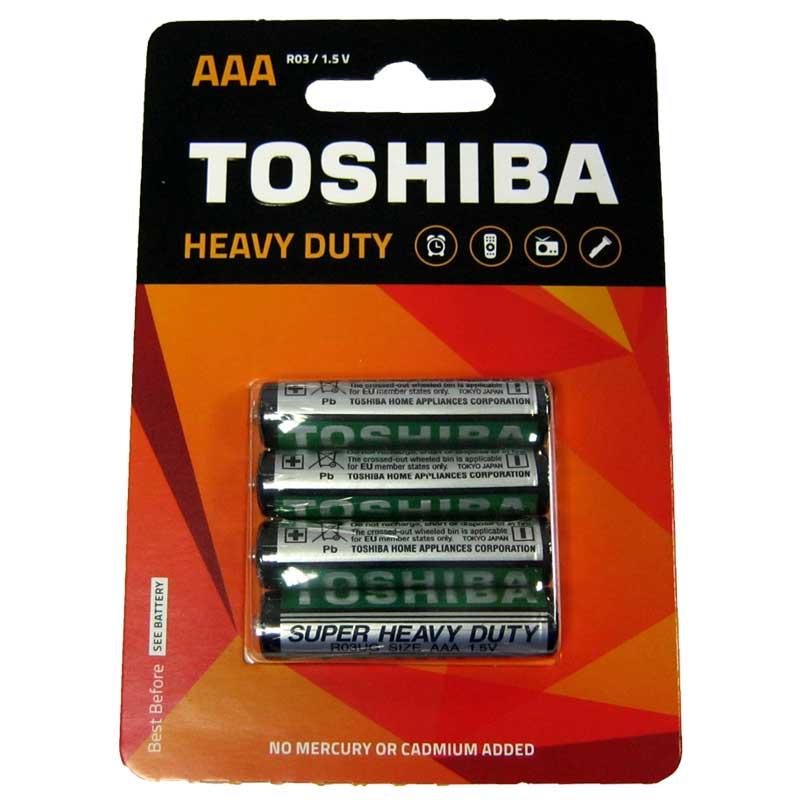 Фото нетБатарейка R03 Toshiba blister по 4шт