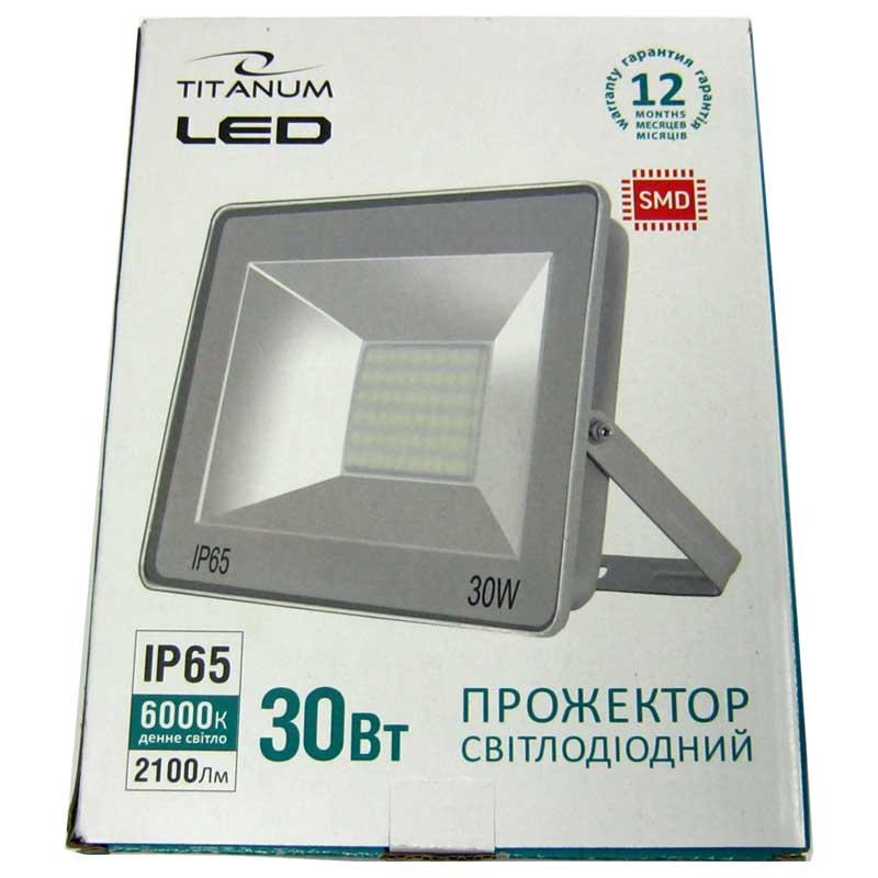 Прожектор светодиодный TITANIUM 30W 6000K (TLF306)
