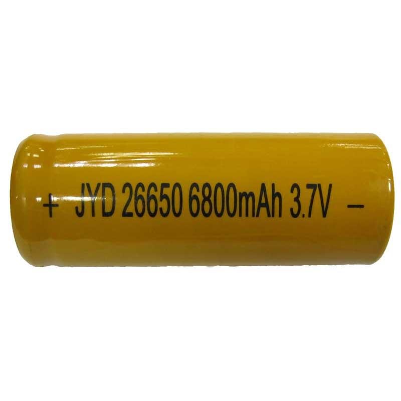 Фото нетАккумулятор литиевый 26650 JYD yellow 6800mAh 3.7V Li-ion