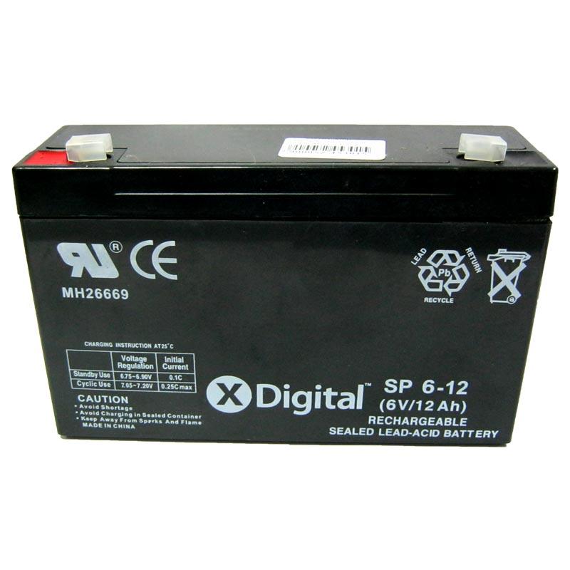 Фото нетАккумулятор свинцово-кислотный X-DIGITAL SP 6-12 (6V,12Ah)