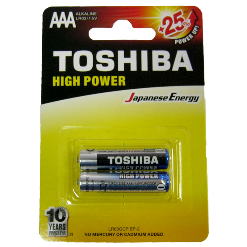 Батарейка LR03 Toshiba блистер по 2шт