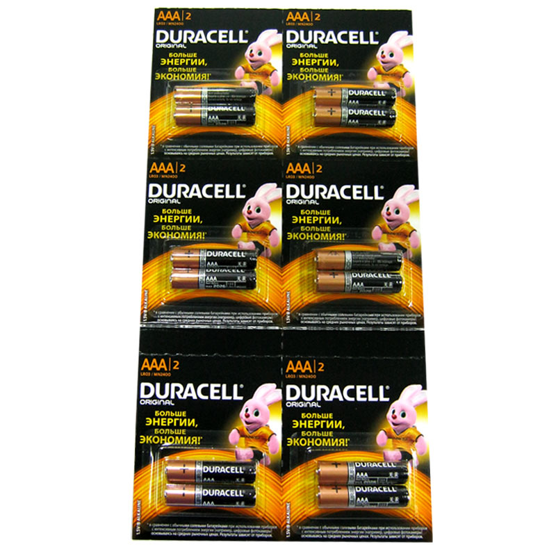 Батарейка LR03 Duracell блистер по 2шт(Cупер цена!!!)